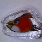 Red angry bird glass millie